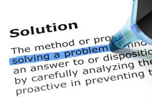 Solving a problem, Solution